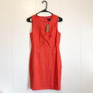 J. Crew • NWT Orange Twist Front Dress